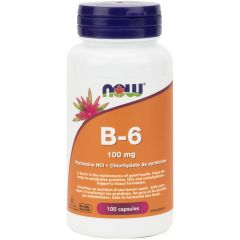 NOW B6, 100mg, 100 Capsules