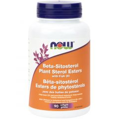 NOW Beta Sitosterol with Fish Oil, 90 Softgels