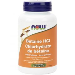 NOW Betaine HCl with Protease
