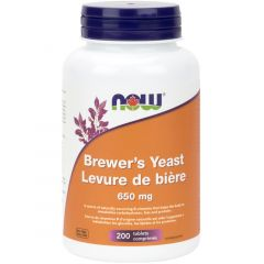 NOW Brewer's Yeast, 650mg, 200 Tablets