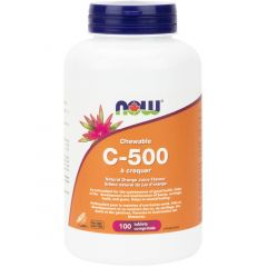 NOW C-500 (500mg Chewable Vitamin C), 100 Chewable Tablets