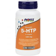 NOW Chewable 5-HTP 100mg, 90 Chewable Tablets