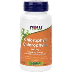 NOW Chlorophyll with Alfalfa, 100mg, 90 Capsules