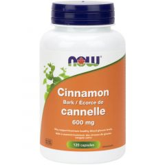 NOW Cinnamon Bark, 600mg, 120 Capsules