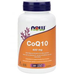 NOW CoQ10 400mg with Lecithin and Vitamin E (High Potency)