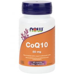 NOW CoQ10, 60mg, 60 Vcaps