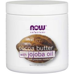 NOW Cocoa Butter with Jojoba Oil, 184g