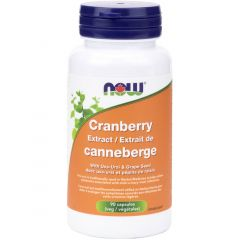 NOW Cranberry Extract (Max Strength) with Uva Ursi, 90 VCaps