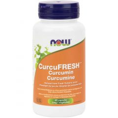 NOW Curcufresh Curcumin (Dervied From Fresh Tumeric Juice), 60 Vegetable Capsules