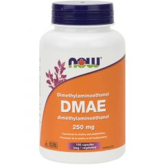 NOW DMAE, 250mg, 100 Vcaps