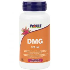 NOW DMG (Dimethylglycine), 125mg, 100 Capsules