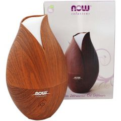NOW Faux Wood Ultrasonic Essential Oil Diffuser & Humidifier, 2 in 1 Mini Humidifier