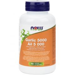 NOW Garlic, 5000mcg of Allicin, Enteric Coated, 90 Tablets