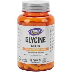 NOW Glycine, 1000mg, 100 Capsules