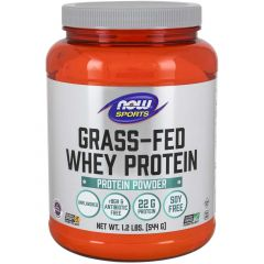 NOW Grass-Fed Whey Protein (Hormone and Antibiotic Free), 544g / 1.2lb