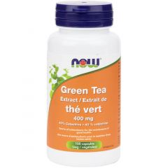 NOW Green Tea Extract, 400mg, 100 Capsules