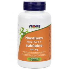 NOW Hawthorn Berry, 550mg, 100 Capsules