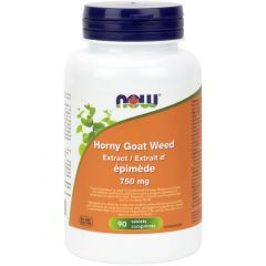 NOW Horny Goat Weed, 750mg, 90 Tablets