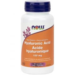 NOW Hyaluronic Acid 100mg with Antioxidants (Double Strength), 60 VCaps