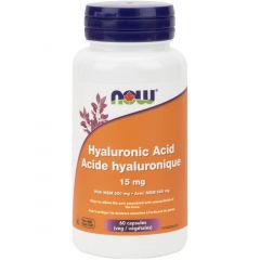 NOW Hyaluronic Acid (15mg) with MSM, 60 VCaps