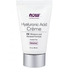 NOW Hyaluronic Acid Cream, PM Moisture Renewal Formula, Paraben Free, 59ml