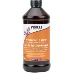 NOW Hyaluronic Acid Liquid with Antioxidants (Natural Berry Flavour), 473mL