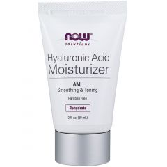NOW Hyaluronic Acid Moisturizer, AM Fine Line Smoothing & Repair, 59ml