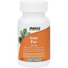 NOW Iron Bisglycinate, 36mg, 90 Vcaps