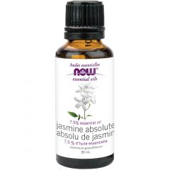 NOW Jasmine Absolute, 7.5% Oil Blend, 100% Pure & Natural (Aromatherapy), 30ml