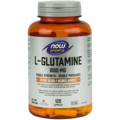 NOW L-Glutamine, Free Form, 1000mg, 120 Capsules