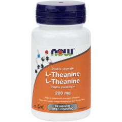 NOW L-Theanine (200mg) with Inositol (100mg), 60 Vcaps