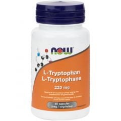 NOW L-Tryptophan, 220mg, 60 Vcaps