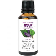 NOW Lavender & Tea Tree Oil Blend (Aromatherapy), 100% Pure & Natural, 30ml