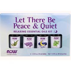NOW Let There Be Peace & Quiet Relaxing Essential Oils Kit, 4 x 10ml Bottles
