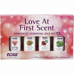 NOW Love at First Scent Romantic Essential Oils Kit, 4 x 10ml Bottles