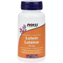NOW Lutein 20mg (Double Strength), 90 VCaps