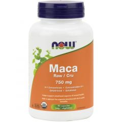 NOW Organic Maca  6:1 Extract 750mg, 90 VCaps
