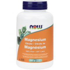 NOW Magnesium Citrate, 100% Pure Powder, 227g