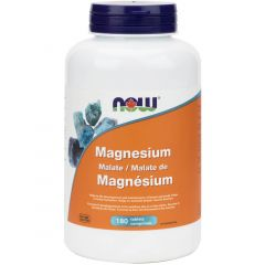 NOW Magnesium Malate, 180 Tablets