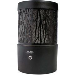 NOW Metal Touch Ultrasonic Essential Oil Diffuser, Black