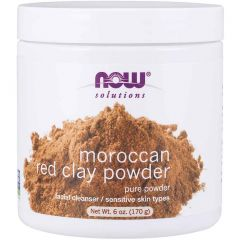 NOW Moroccan Red Clay Powder, 100% Pure, 170g