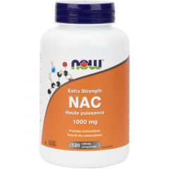NOW NAC, Extra Strength, 1000mg, 120 Tablets