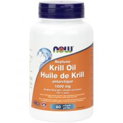 NOW Neptune Krill Oill, Double Strength, 1000mg, 60 Enteric Coated Softgels