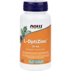 NOW L-OptiZinc 30mg with Copper, 100 VCapsules