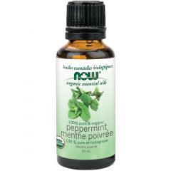 NOW Organic Peppermint Oil (Aromatherapy), 100% Pure, 30ml