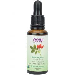 NOW Organic Rose Hip Seed Oil (Topical), 100% Pure, 30ml