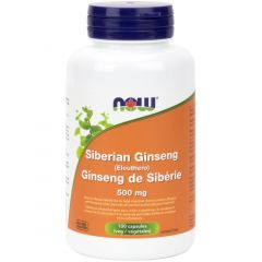 NOW Organic Siberian Ginseng, 500mg, 100 VCapsules