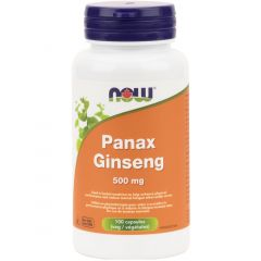 NOW Panax Ginseng 500mg, 100 Capsules