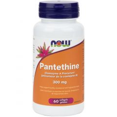 NOW Pantethine 300mg (Coenzyme A), 60 Softgels
