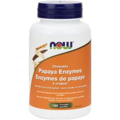 NOW Papaya Enzymes (Chewable), 180 Lozenges